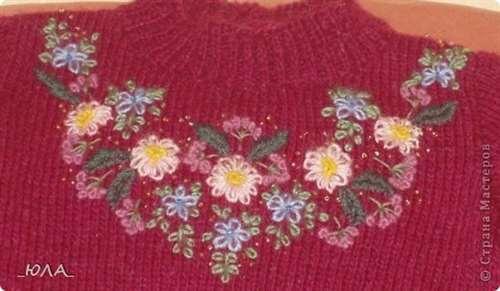 Вязание спицами вышивкой - Master class