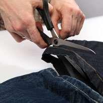 Стильный гамак из старых джинсов. Шаг 2