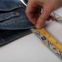 Стильный гамак из старых джинсов. Шаг 11