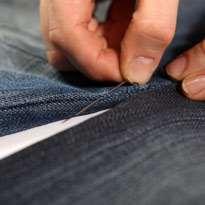 Стильный гамак из старых джинсов. Шаг 6