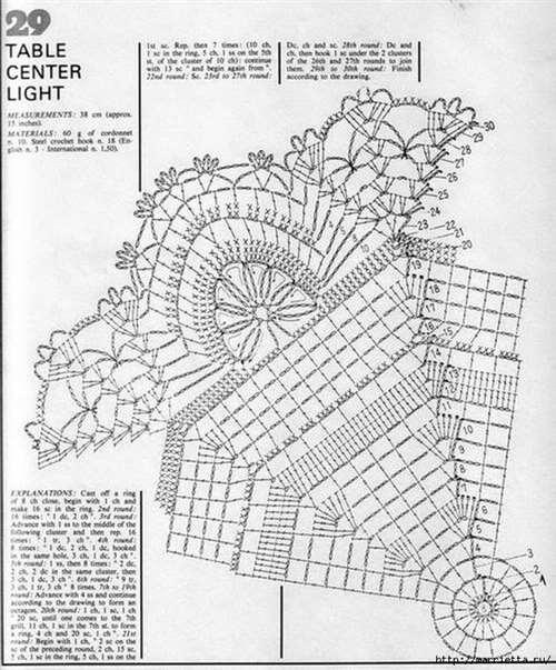 Круглые салфетки крючком. Схемы (25) (580x700, 269Kb)