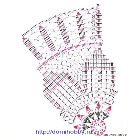 Круглые салфетки крючком. Схемы (18) (657x700, 288Kb)