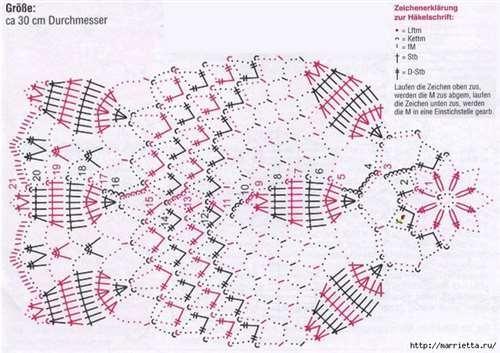 Круглые салфетки крючком. Схемы (4) (700x494, 299Kb)