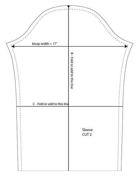 Стеганный прямоугольный жакет (выкройка)