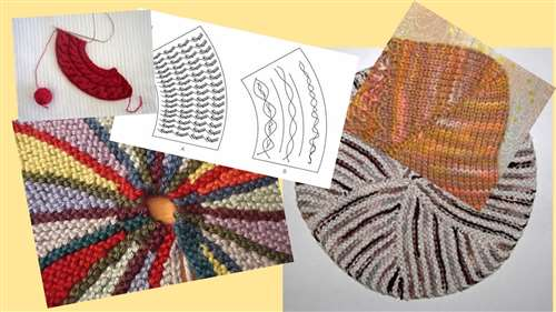 вязание укороченными рядами способ оберни и поверни