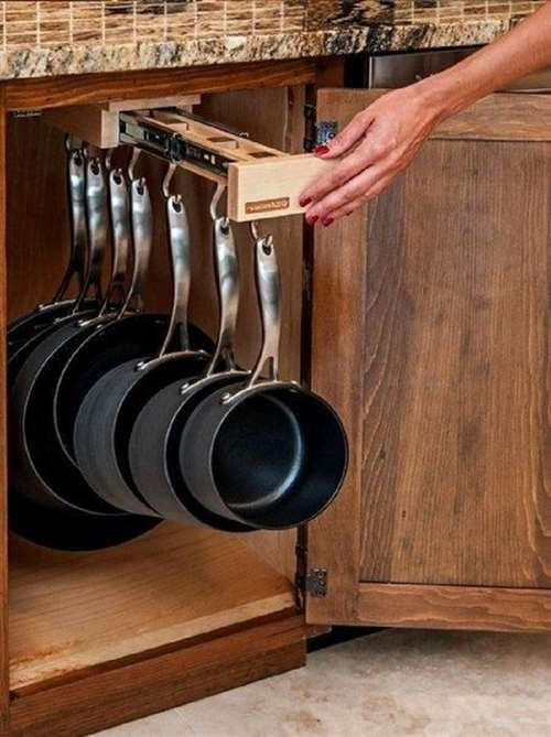 20 интересных идей, которые помогут сэкономить место на кухне