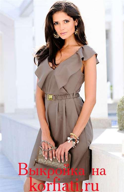 814c635d18f9045 Очаровательное летнее платье. Моделирование, технология пошива