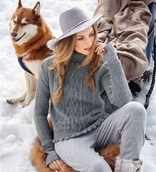 свитер спицами