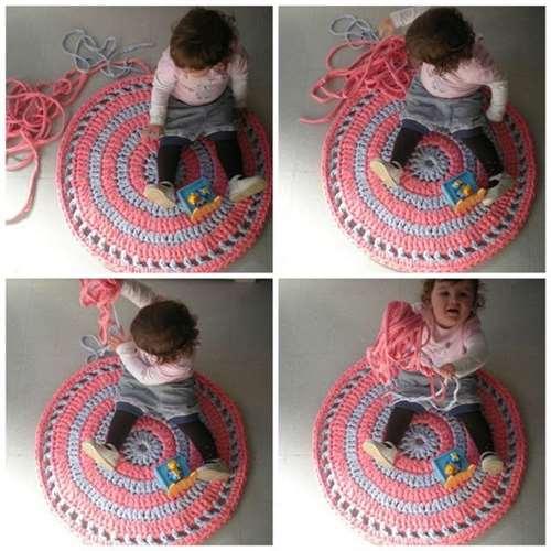 Картинка вязаные коврики крючком, подробный мк
