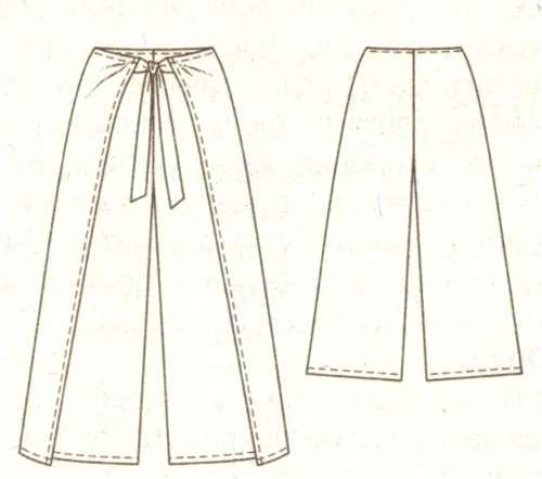 Оригинальные брюки для пляжа и не только. Выкройка
