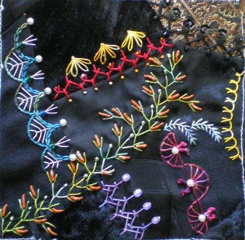 Ручные декоративные швы