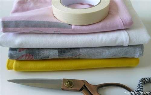 Вязание пряжей из футболок. Как нарезать пряжу (16) (700x442, 195Kb)
