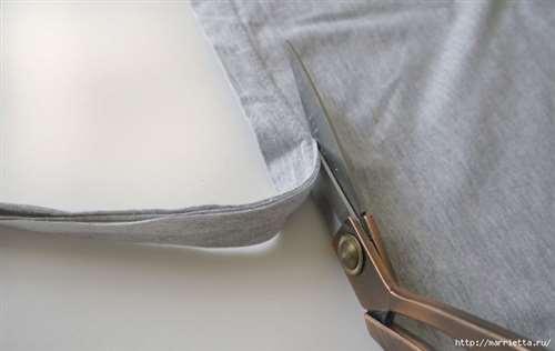 Вязание пряжей из футболок. Как нарезать пряжу (5) (700x442, 145Kb)