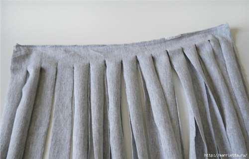 Вязание пряжей из футболок. Как нарезать пряжу (11) (700x447, 188Kb)