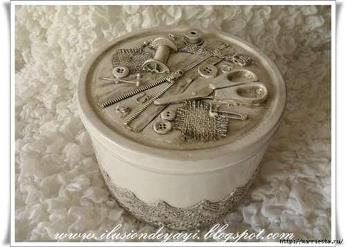 Швейный стимпанк) Декор шкатулки швейными принадлежностями. Мастер-класс (16) (656x468, 231Kb)