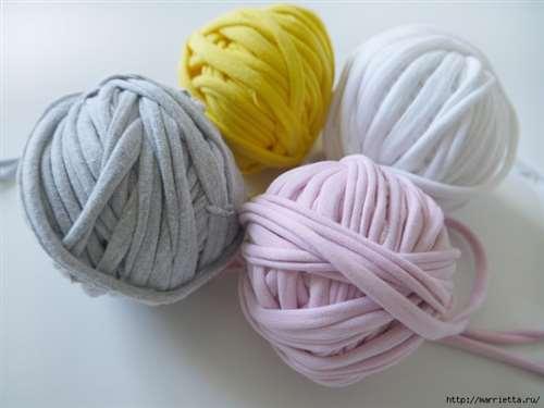 Вязание пряжей из футболок. Как нарезать пряжу (4) (700x525, 201Kb)